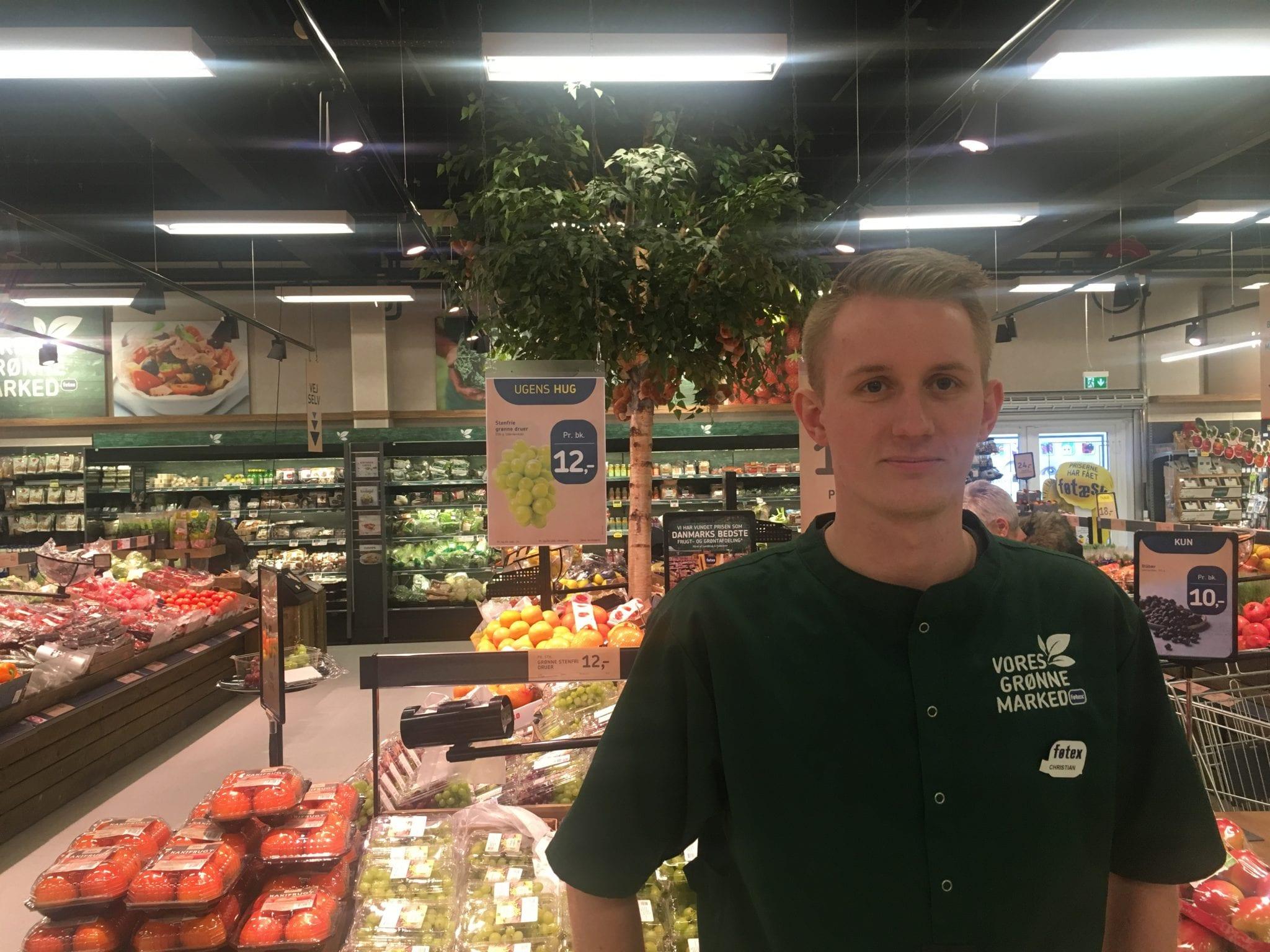 Christian Sørensen, frugt og grønt Føtex Vest