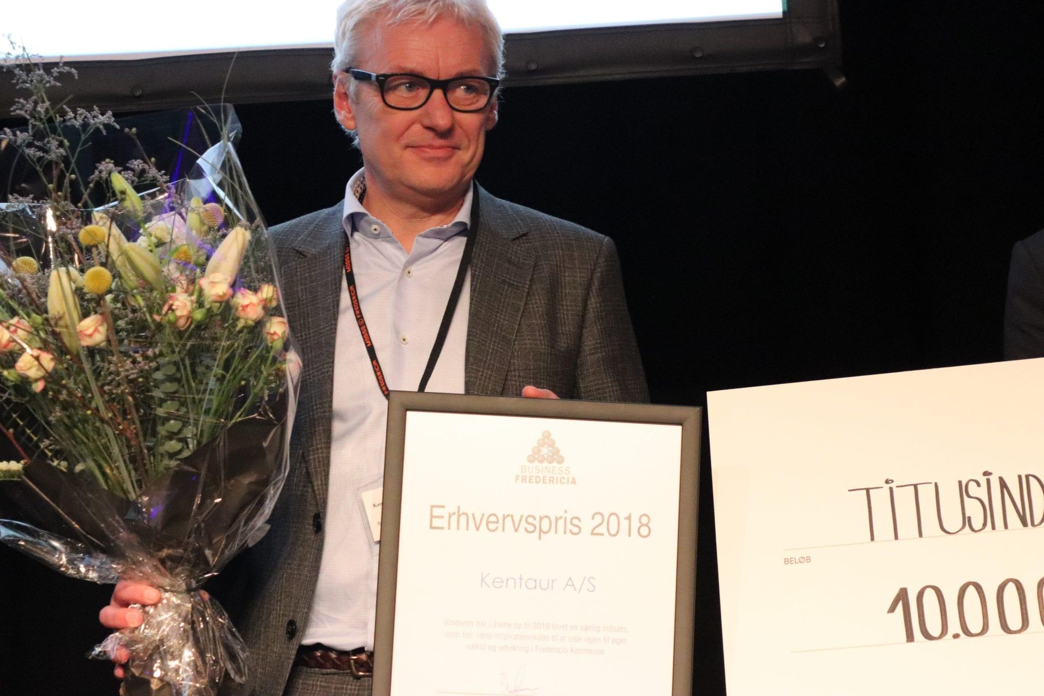 Kentaur vinder årets erhvervspris hos Business Fredericia. På billede, CEO og ejer, Bernt Dahl. Foto: Matthias Runge Madsen, Fredericia AVISEN.
